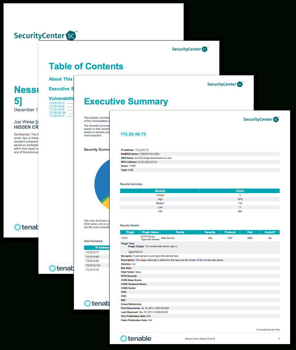 Nessus Scan Report (Top 5) - Sc Report Template | Tenable® In Nessus Report Templates
