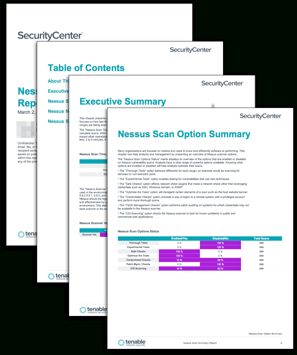 Nessus Scan Summary Report - Sc Report Template | Tenable® For Nessus Report Templates