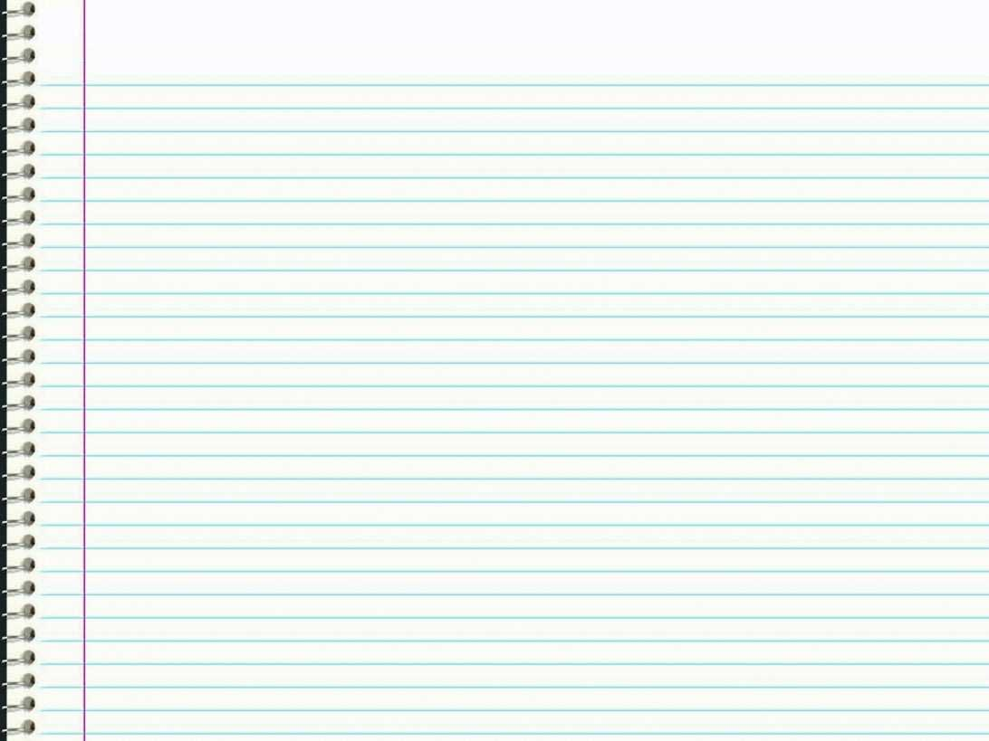Notebook Paper Template Ruled Sheet Of Vector Stock Ms Word Inside Notebook Paper Template For Word
