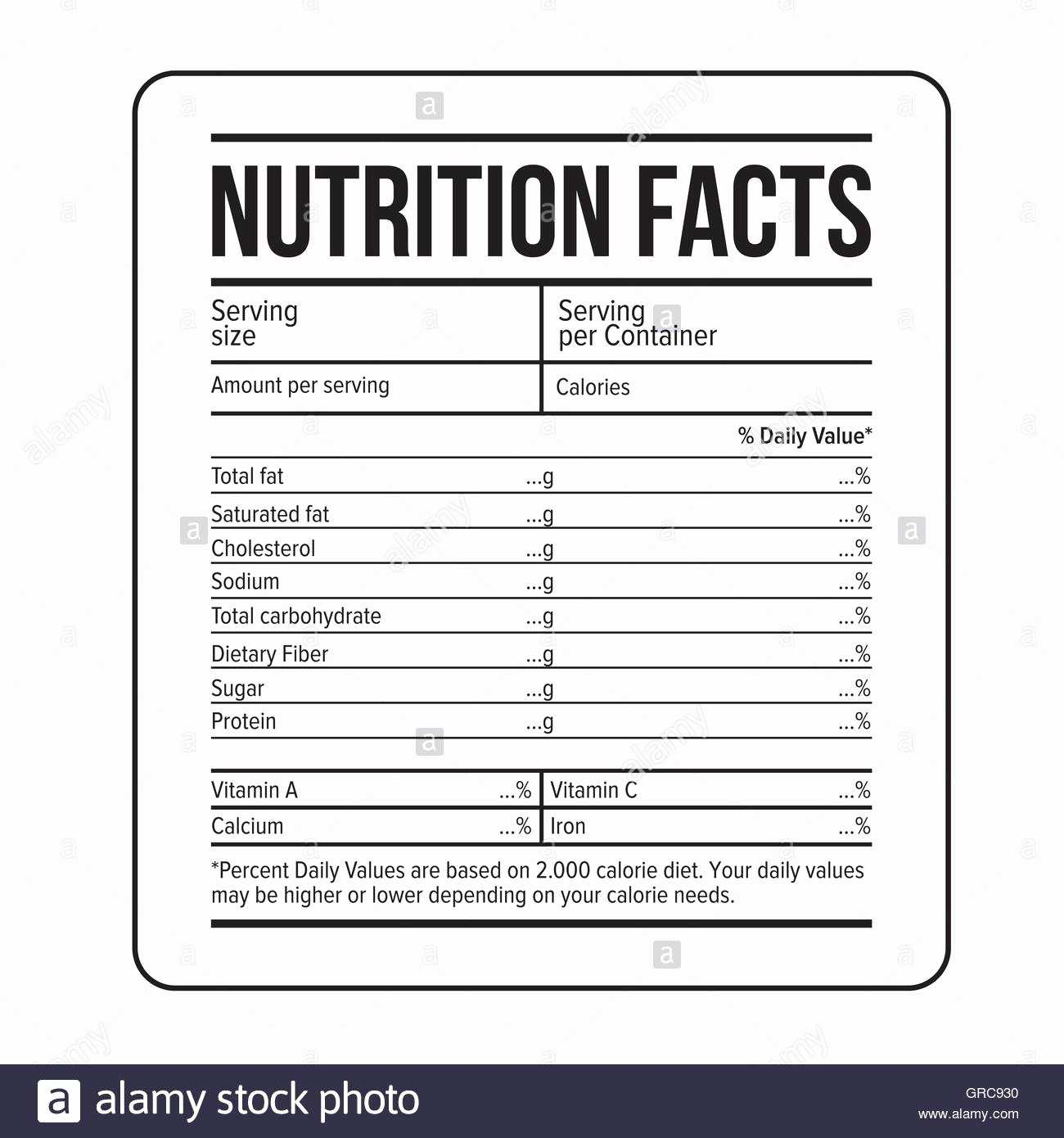 Nutrition Label Template Word - Raptor.redmini.co Regarding Nutrition Label Template Word