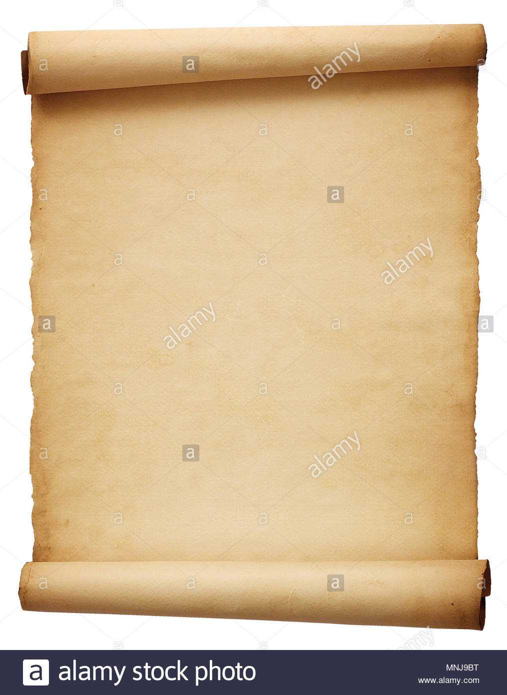 Old Blank Antique Scroll Paper Isolated On White Background Intended For Scroll Paper Template Word