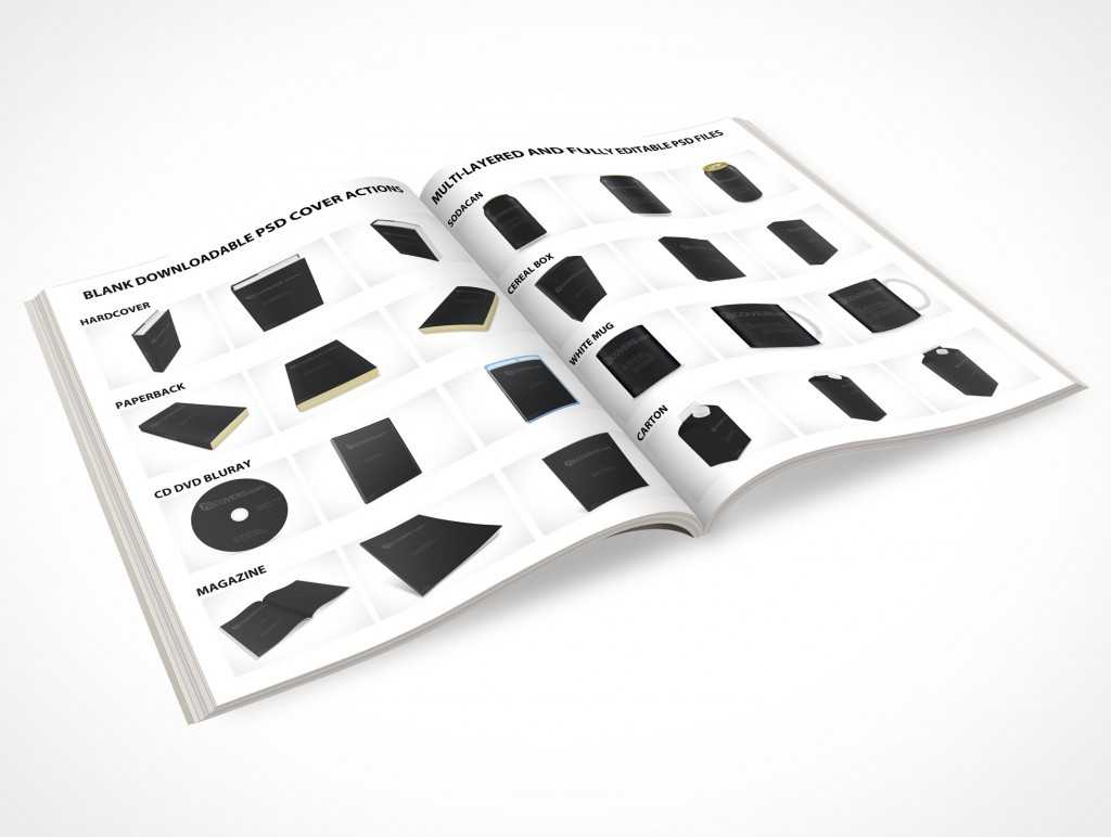 Photoshop Psd Cover Action Free Files For Download • Market For Blank Magazine Template Psd