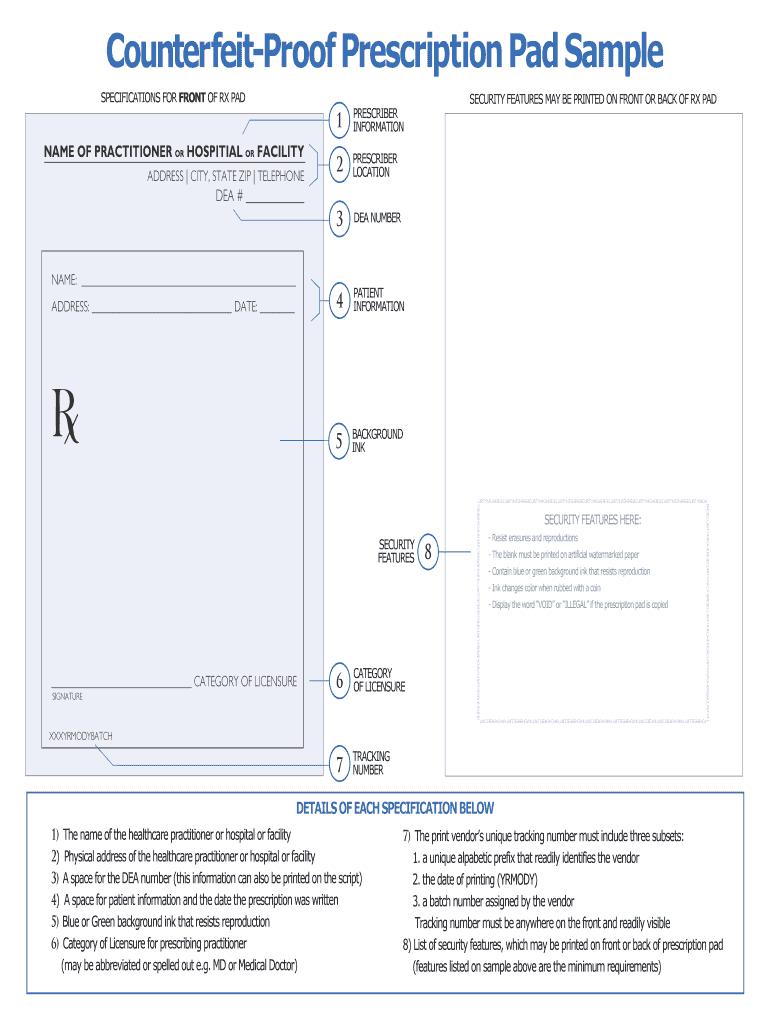 Prescription Pad Template - Fill Online, Printable, Fillable In Blank Prescription Pad Template