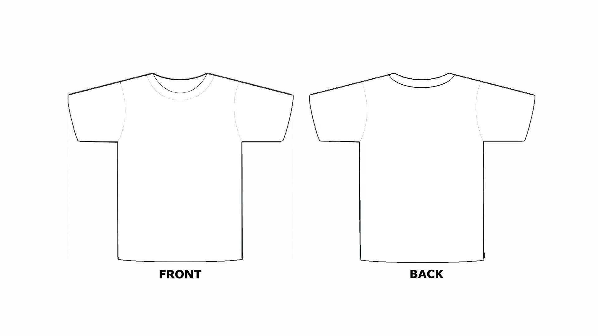 Printable Blank Tshirt Template - C Punkt With Blank Tshirt Template Printable