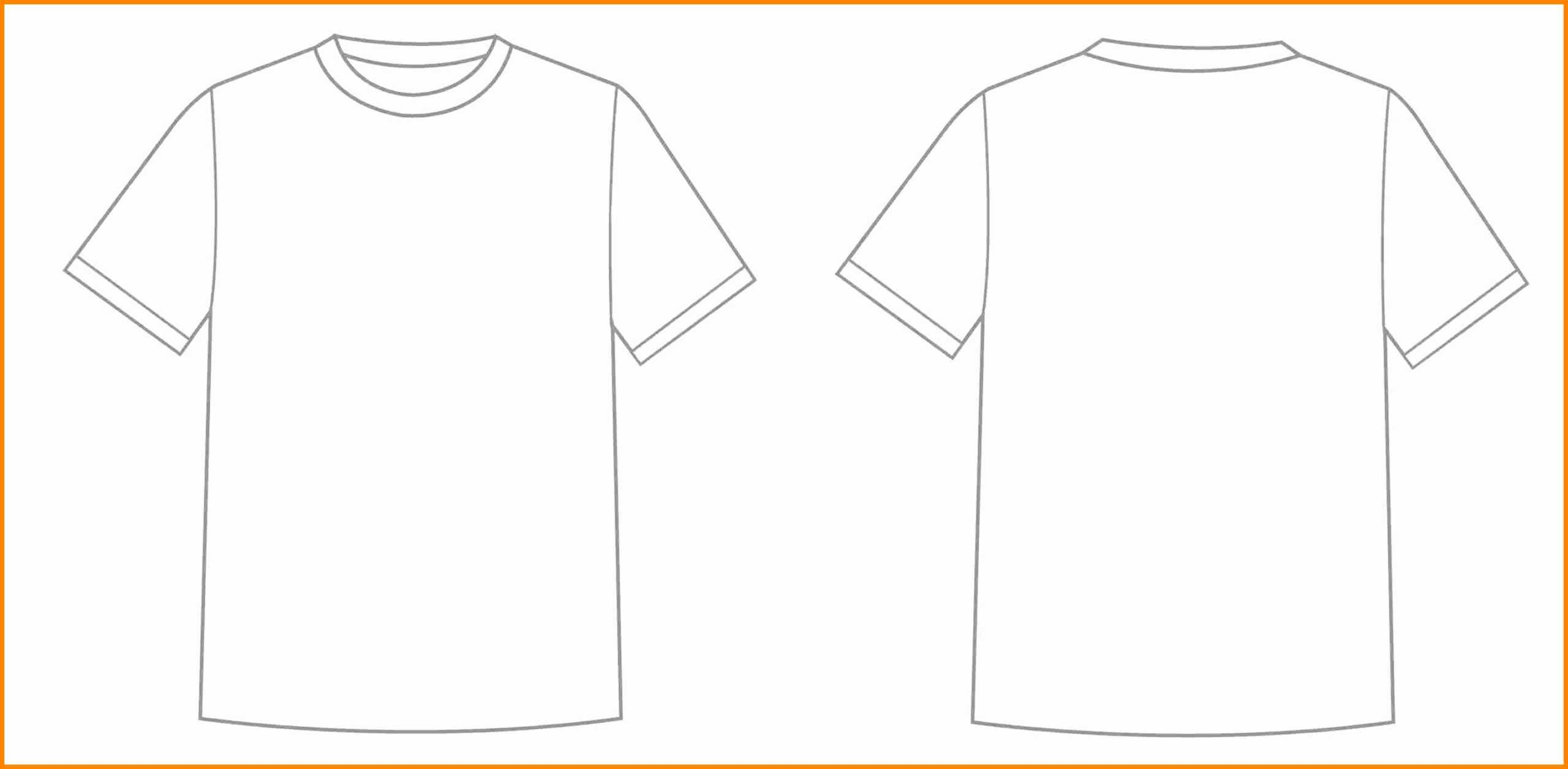 Printable Blank Tshirt Template – C Punkt With Regard To Blank Tshirt Template Printable