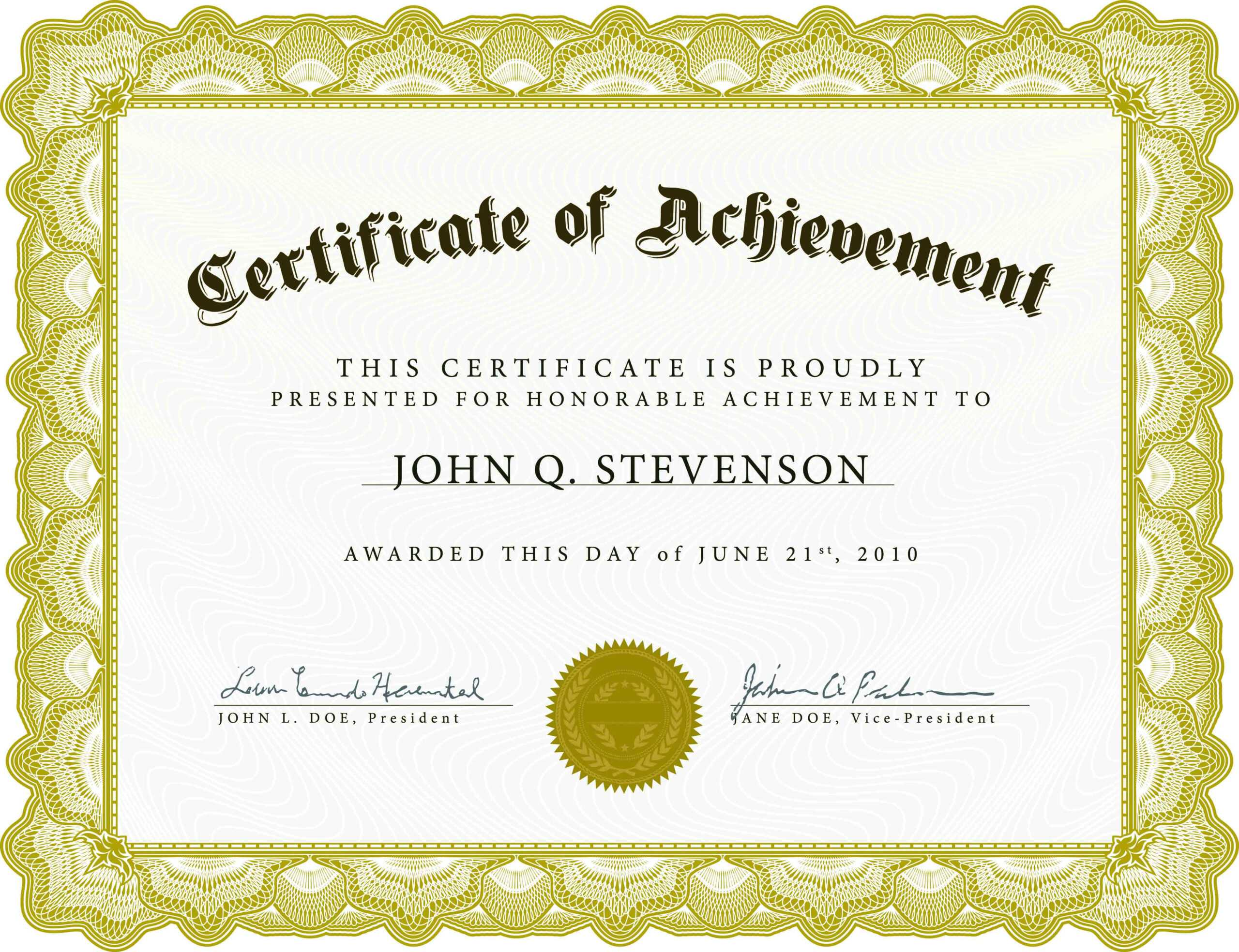 Printable Certificates - Raptor.redmini.co Pertaining To Blank Certificate Of Achievement Template