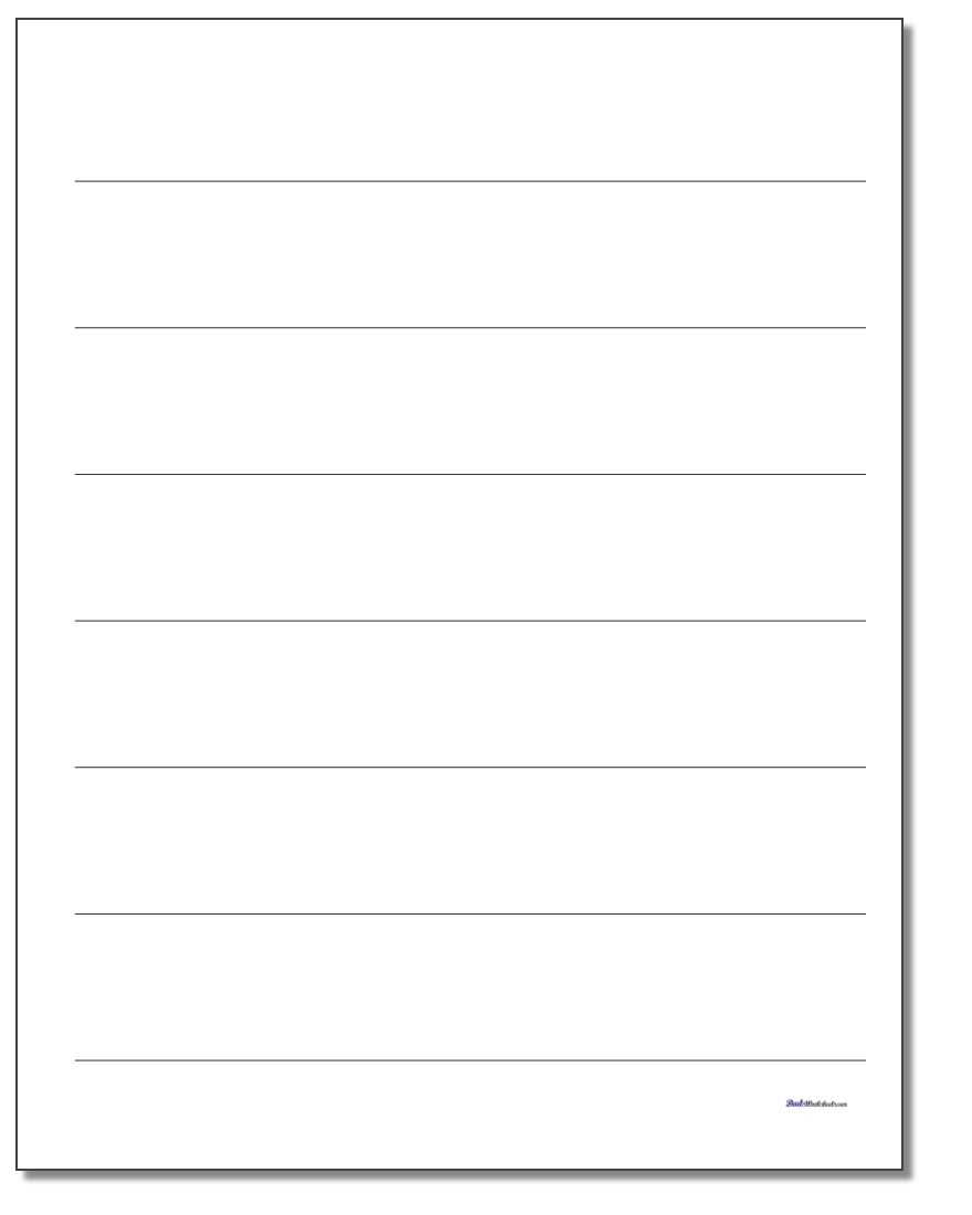 Printable Lined Paper With Ruled Paper Word Template