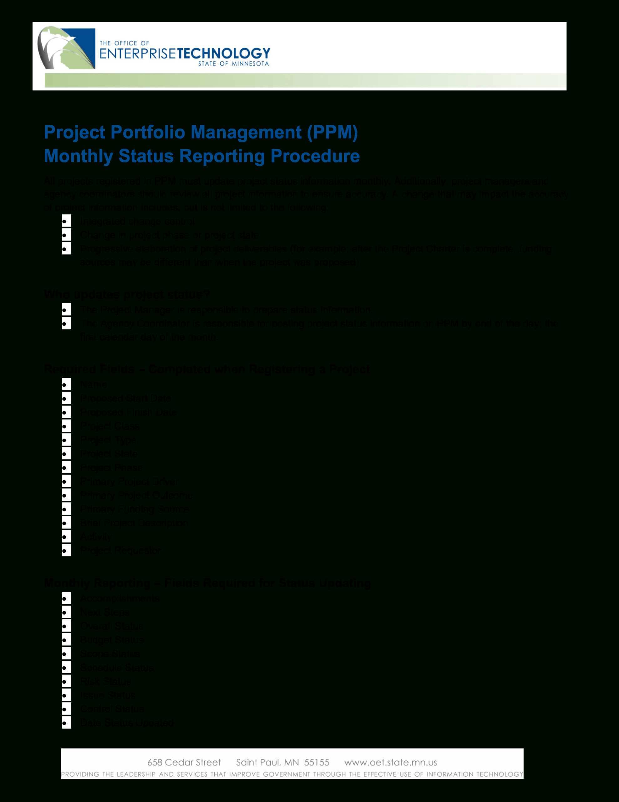 Project Management Status Report | Templates At Within It Management Report Template