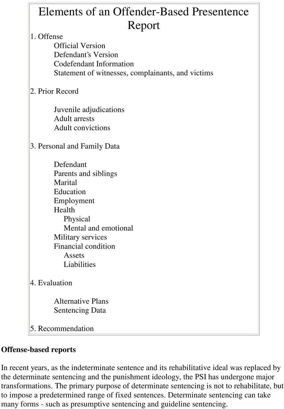 Report Examples Page 3 The History Of Pre Sentence N Pdf With Presentence Investigation Report Template