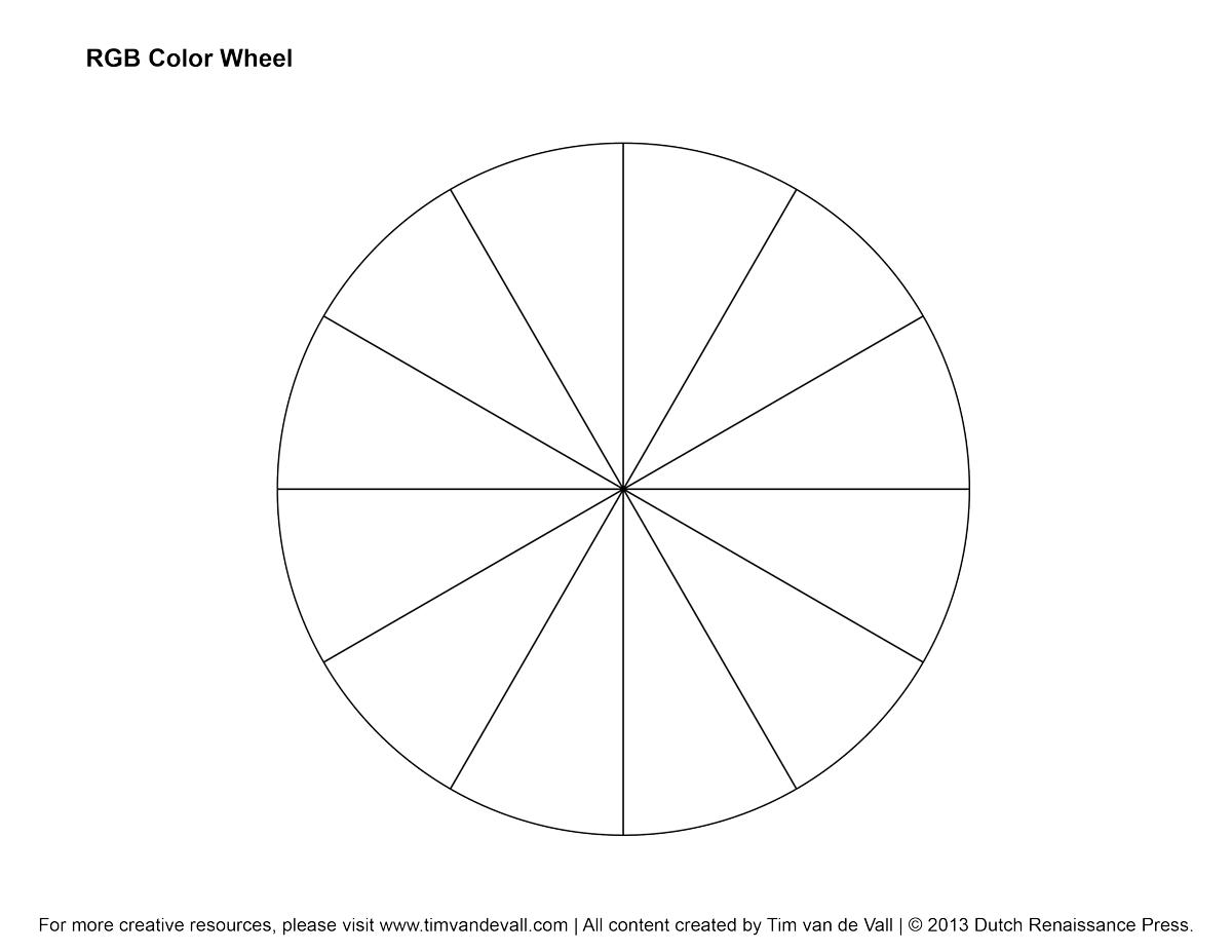 Rgb Color Wheel, Hex Values & Printable Blank Color Wheel Intended For Blank Color Wheel Template