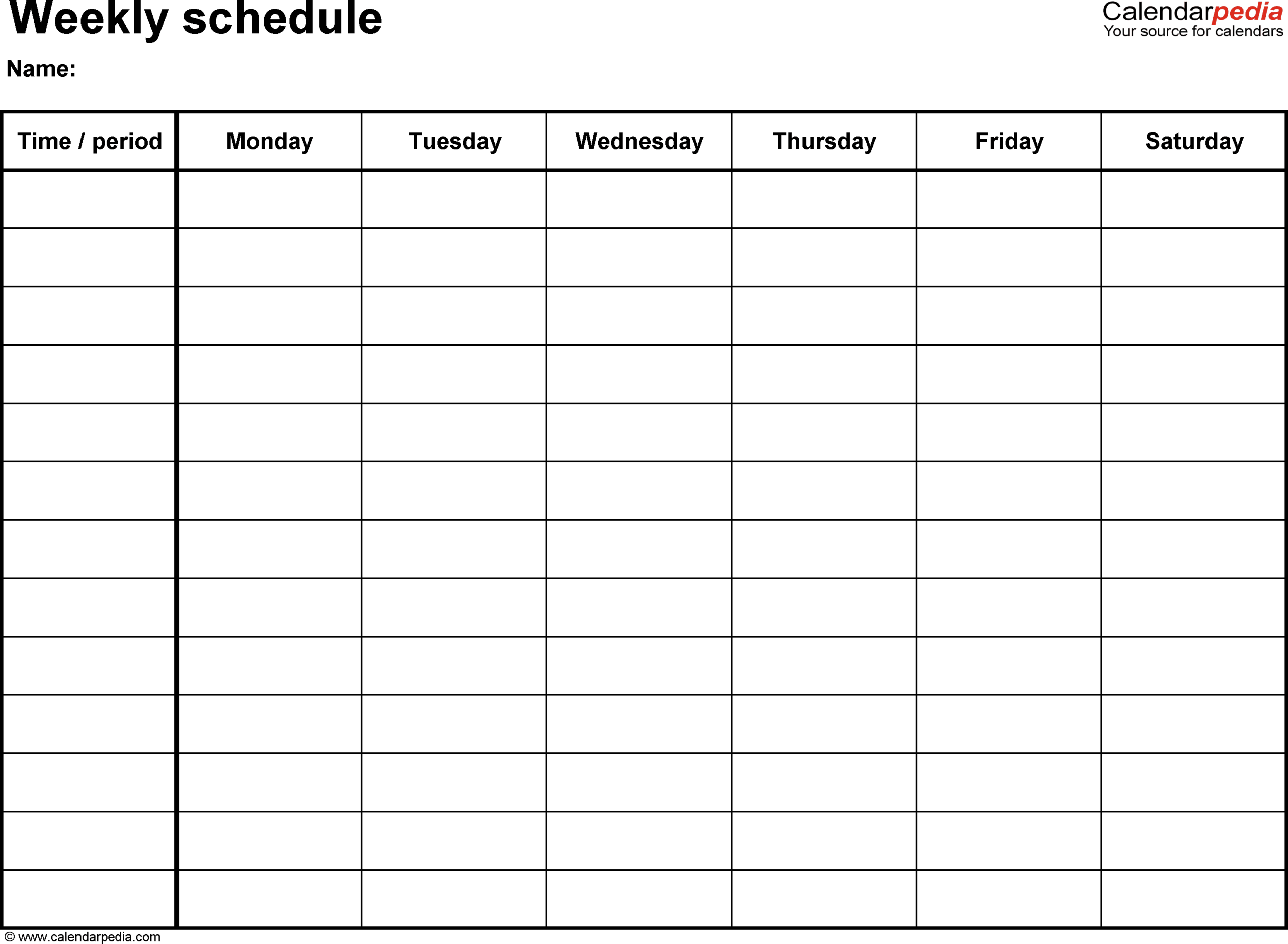 Schedules Templates Free – Horizonconsulting.co Within Blank Monthly Work Schedule Template