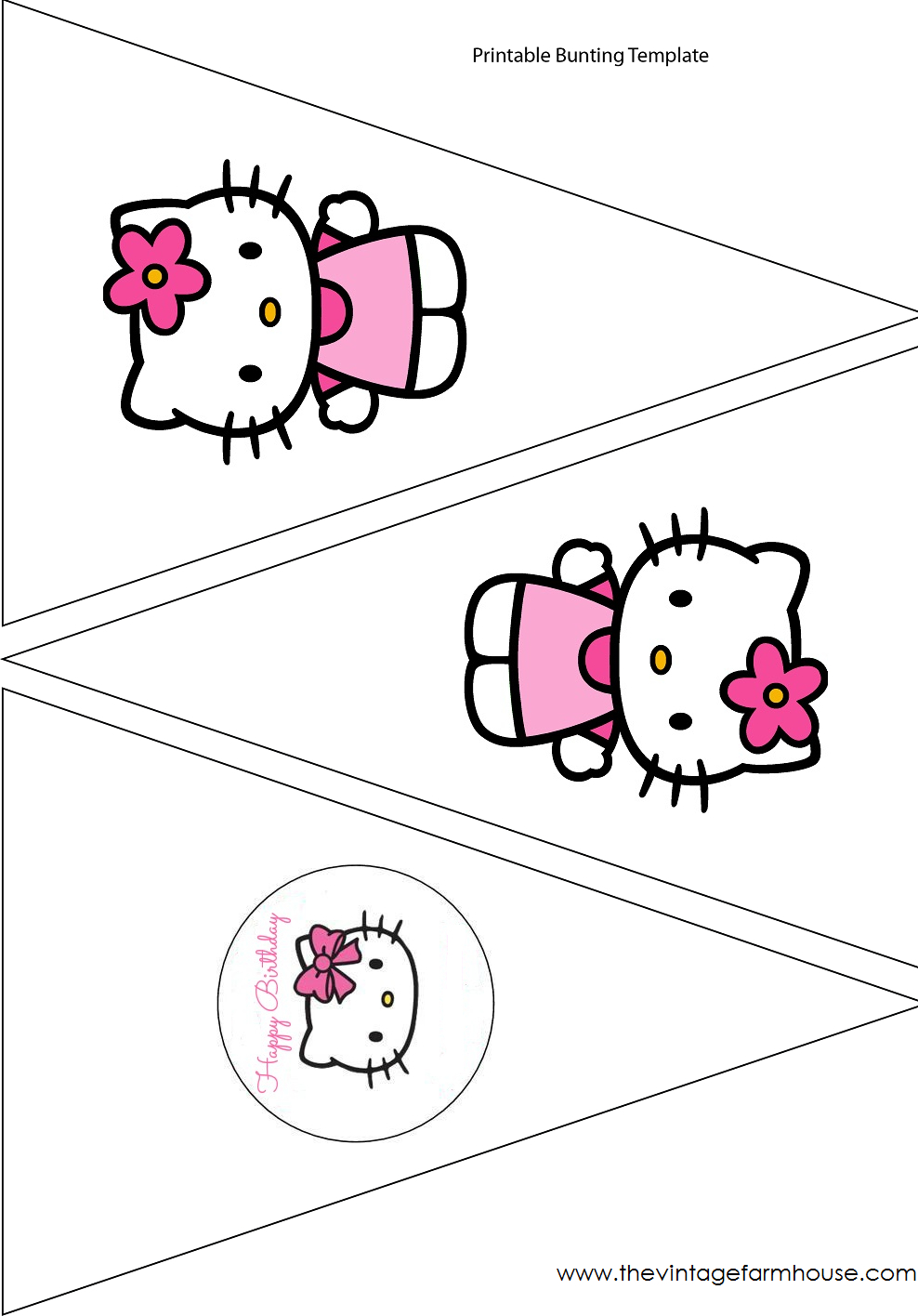 Simple Cute Hello Kitty Free Printable Kit. - Oh My Fiesta In Hello Kitty Banner Template
