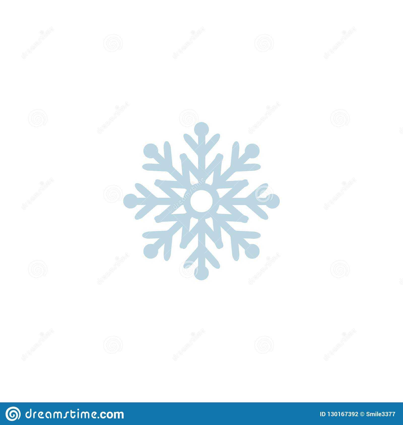 Snowflake Icon. Template Christmas Snowflake On Blank Intended For Blank Snowflake Template