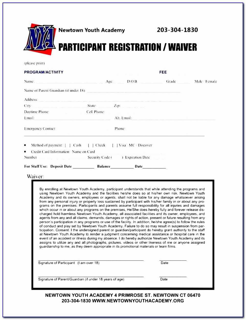Spi Fitness Utica Speed Camp Registration Form Simple Regarding Camp Registration Form Template Word