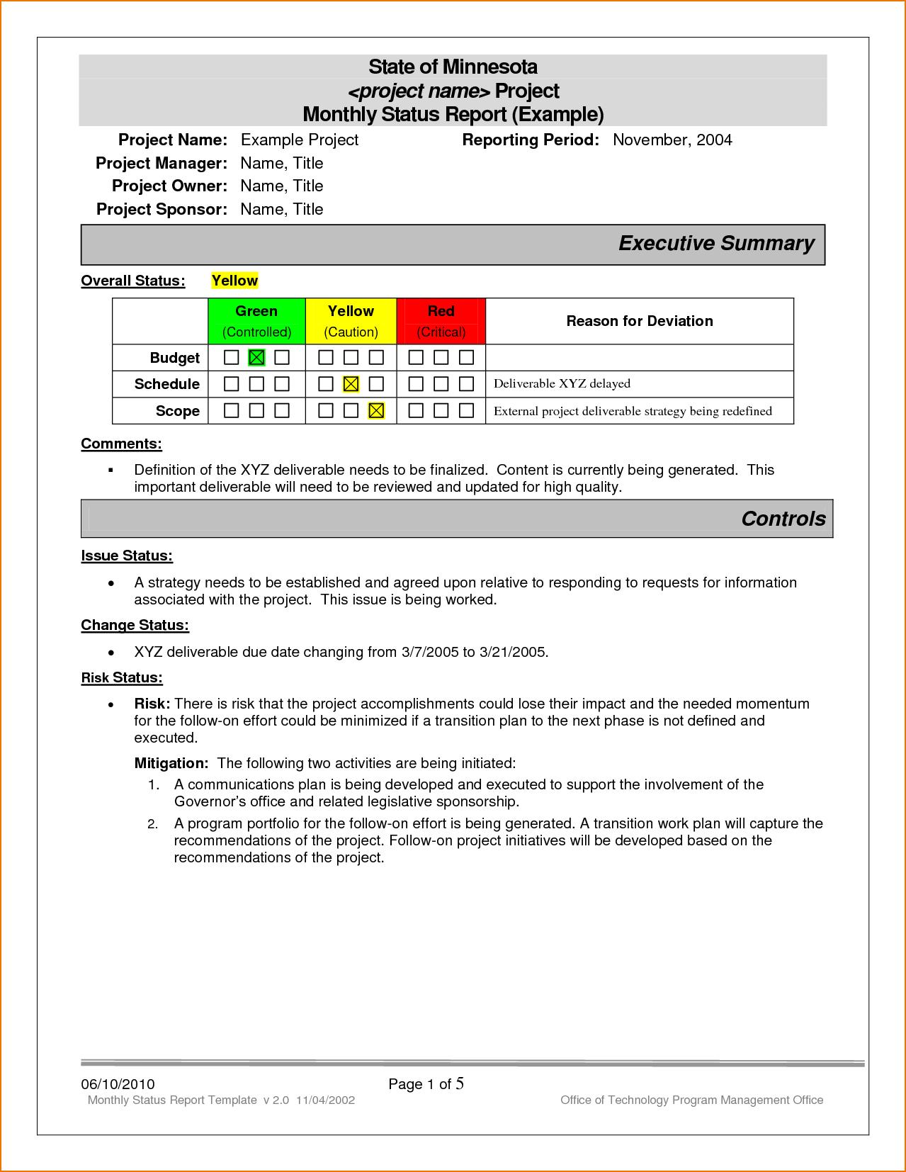 Status Report Template Word Free Printable Order Form With Project Status Report Template Word 2010