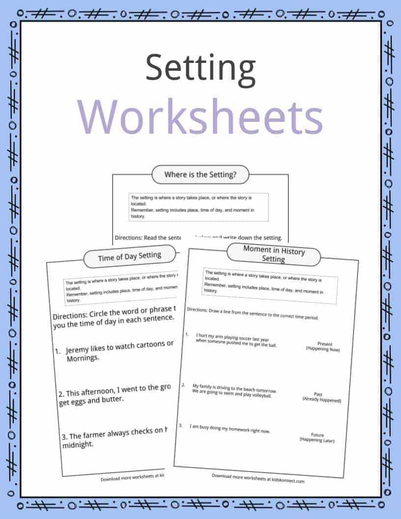 Story Setting Examples, Definition & Worksheets For Kids For Country Report Template Middle School