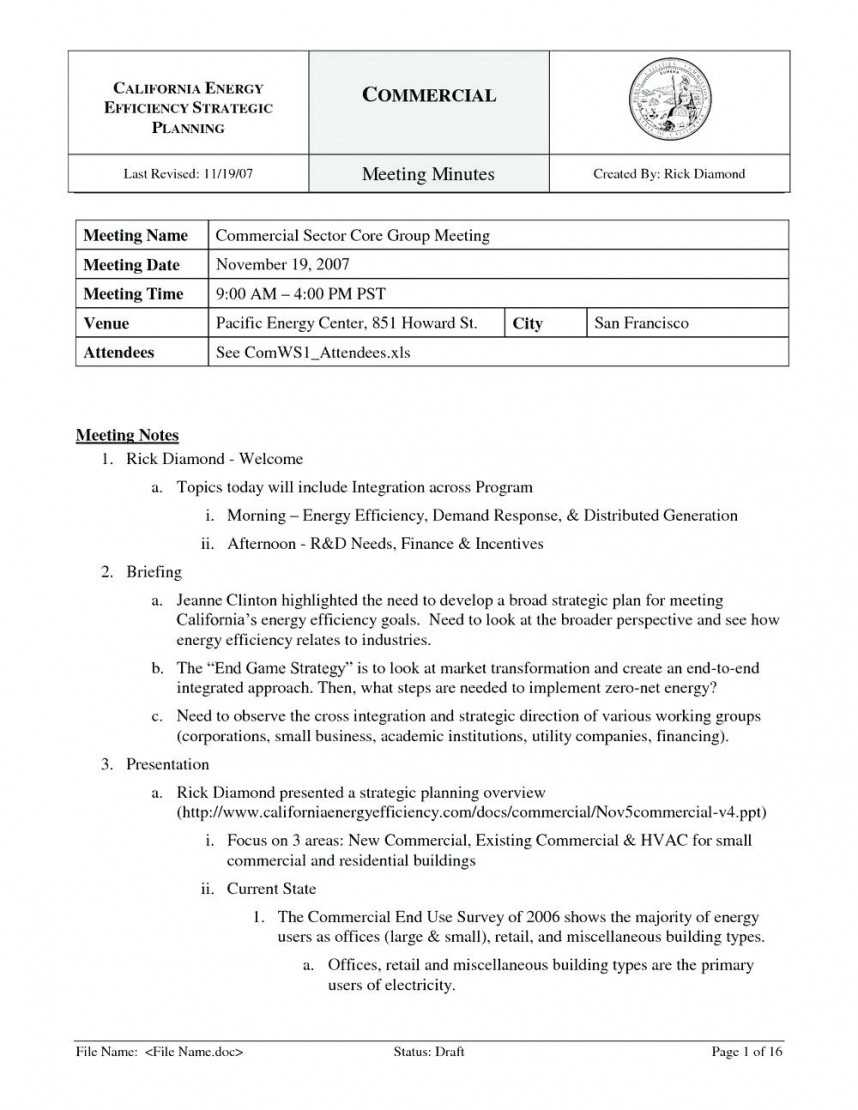 Stunning Meeting Note Template Word Ideas Minutes 2016 Free Inside Corporate Minutes Template Word