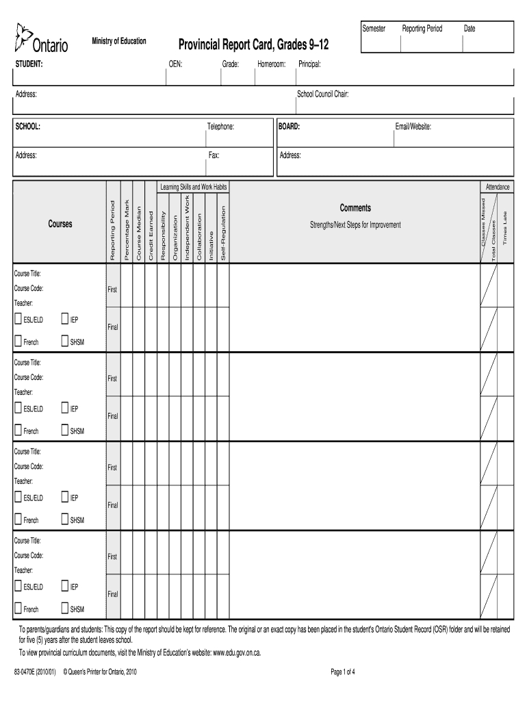 Tdsb Report Card Pdf – Fill Online, Printable, Fillable Within Fake Report Card Template