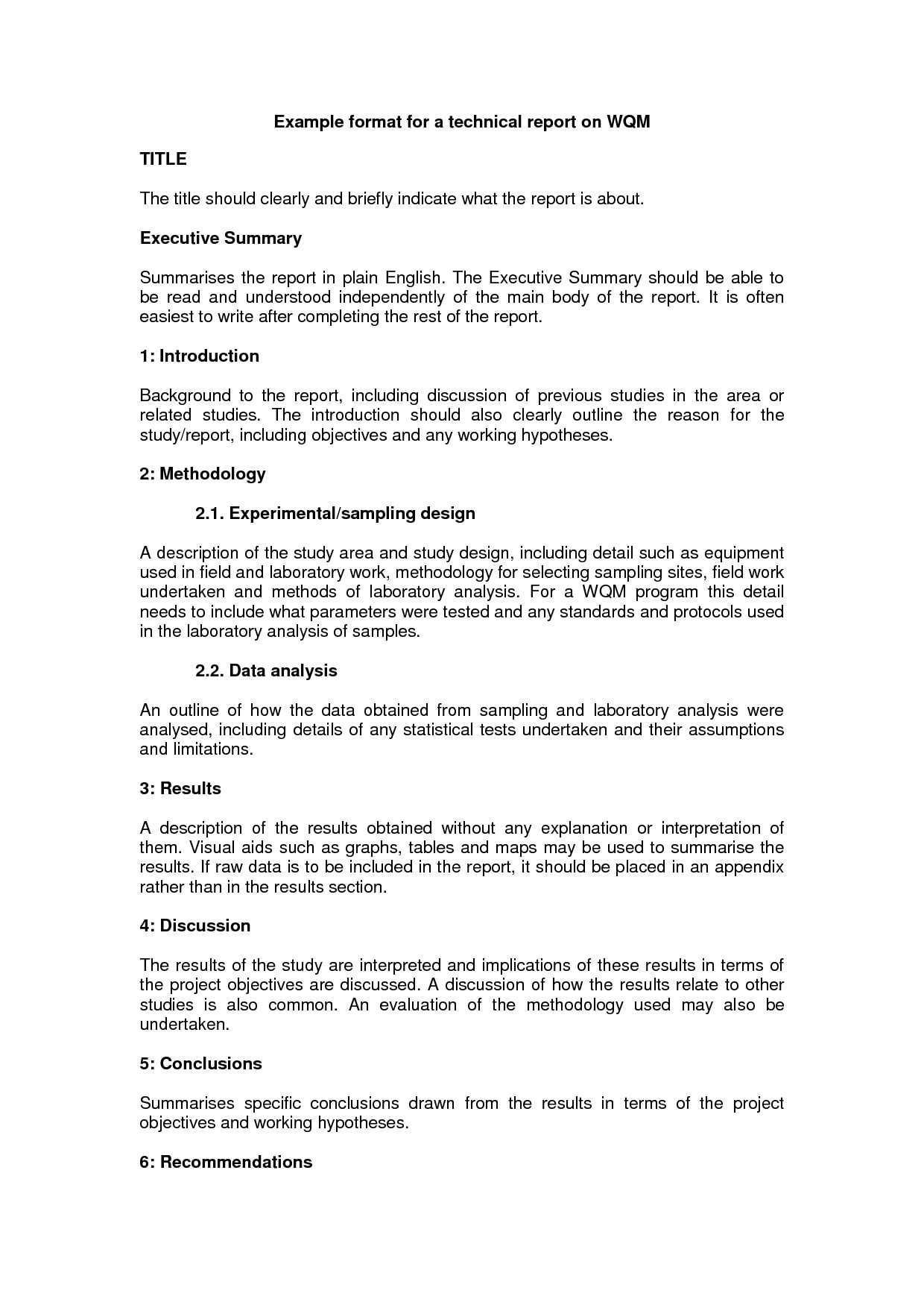 Technical Report Writing Template - Raptor.redmini.co Regarding How To Write A Work Report Template