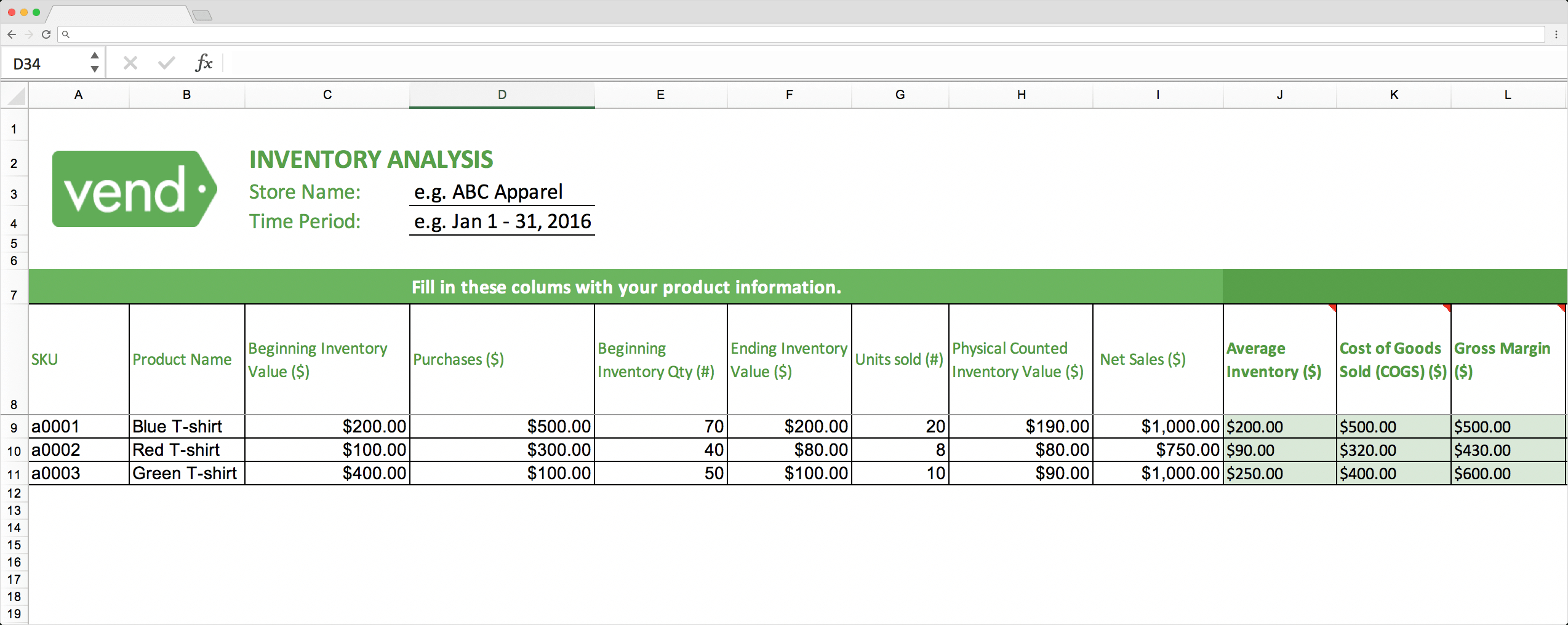 Top 10 Inventory Excel Tracking Templates – Sheetgo Blog For Stock Analysis Report Template