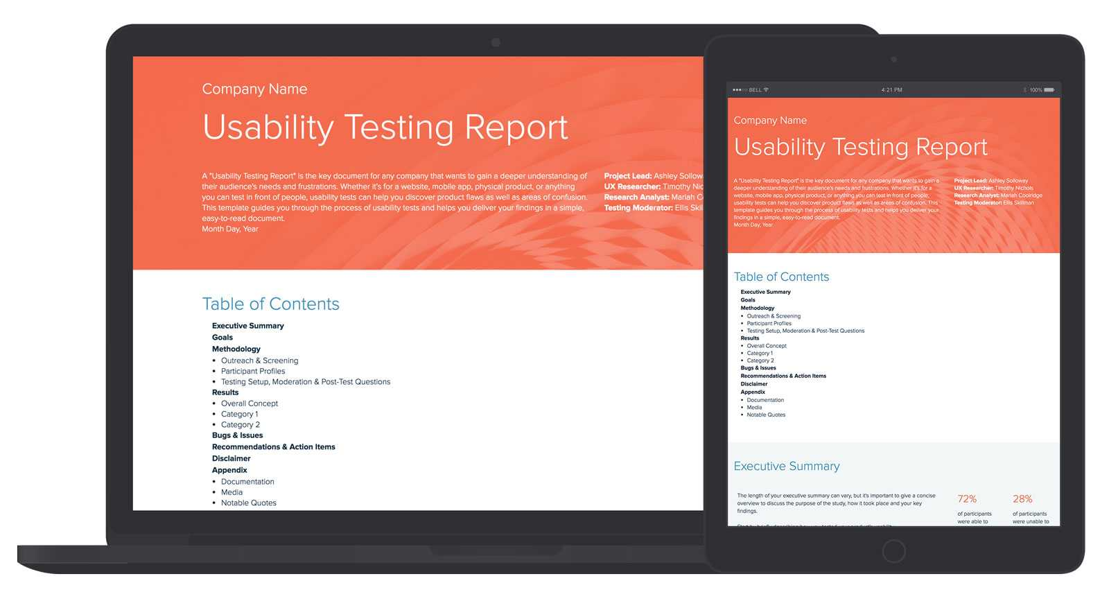 Usability Testing Report Template And Examples   Xtensio With Ux Report Template