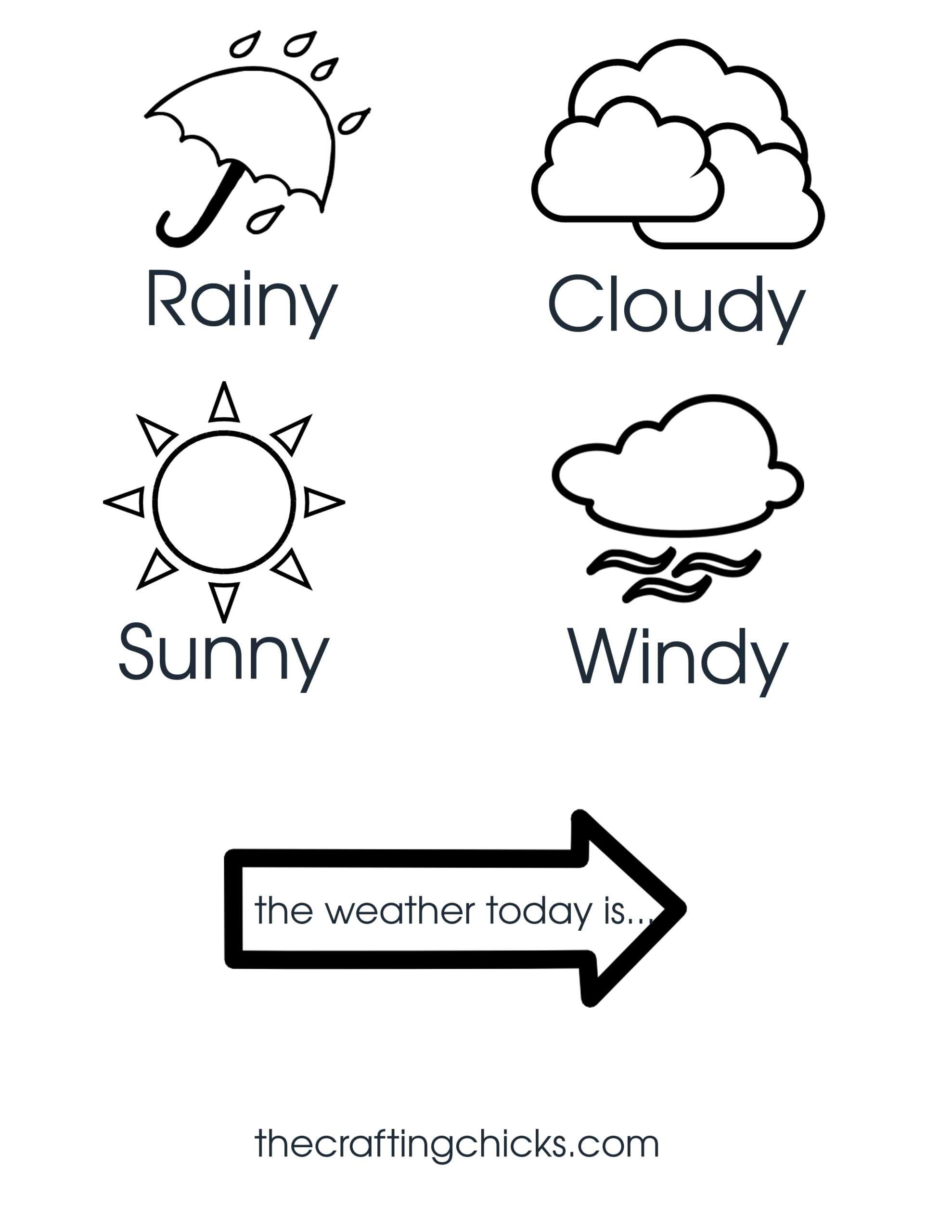 Weather Chart Kid Craft - The Crafting Chicks Pertaining To Kids Weather Report Template