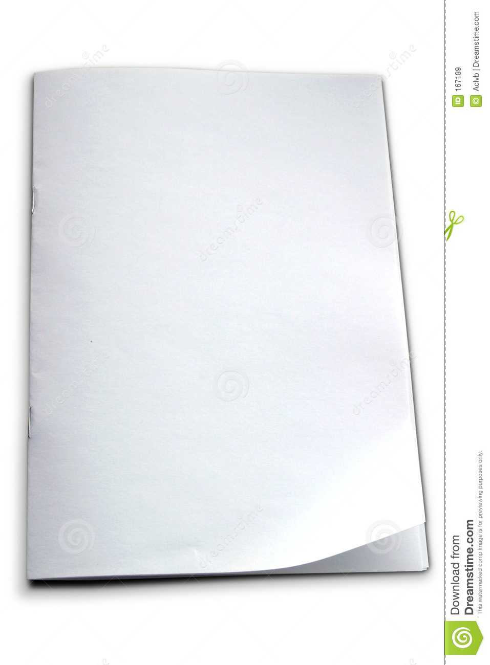 White Booklet Template Stock Image. Image Of Booklet, Book In Blank Magazine Template Psd