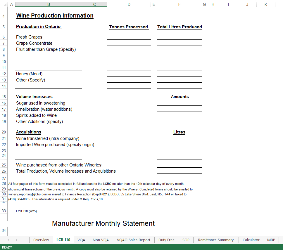 Wine Business Monthly Sales Report Excel | Templates At For Sale Report Template Excel
