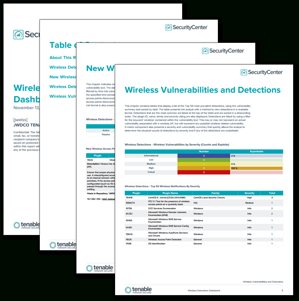 Wireless Detections Report – Sc Report Template   Tenable® Intended For Nessus Report Templates