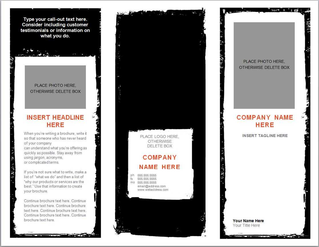Word Brochure Template   Brochure Template Word Inside Microsoft Word Pamphlet Template