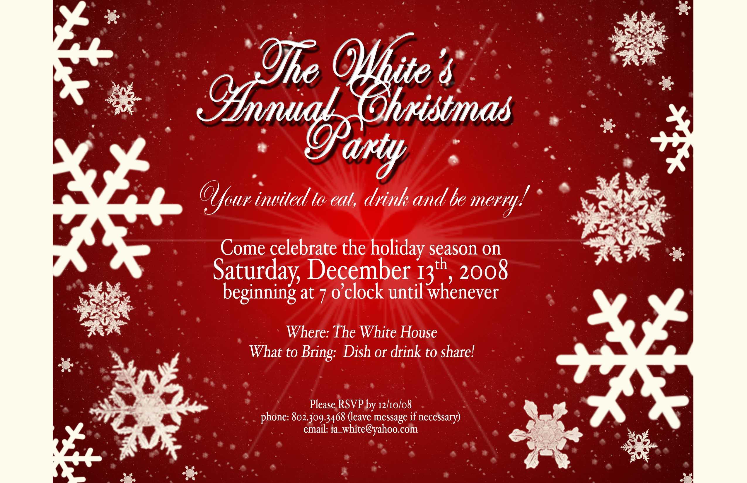 Word Christmas Card Template Doc 585595 Christmas Invitation With Regard To Free Christmas Invitation Templates For Word