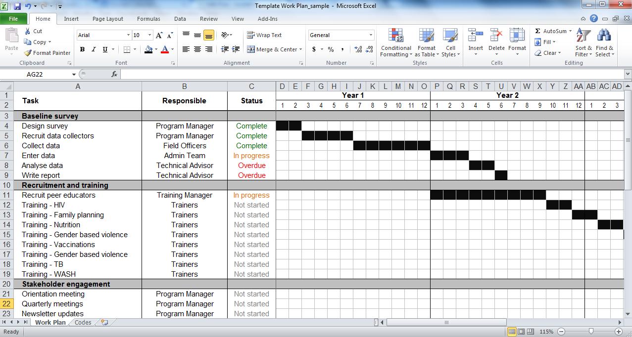 Work Plan Template   Tools4Dev With Work Plan Template Word