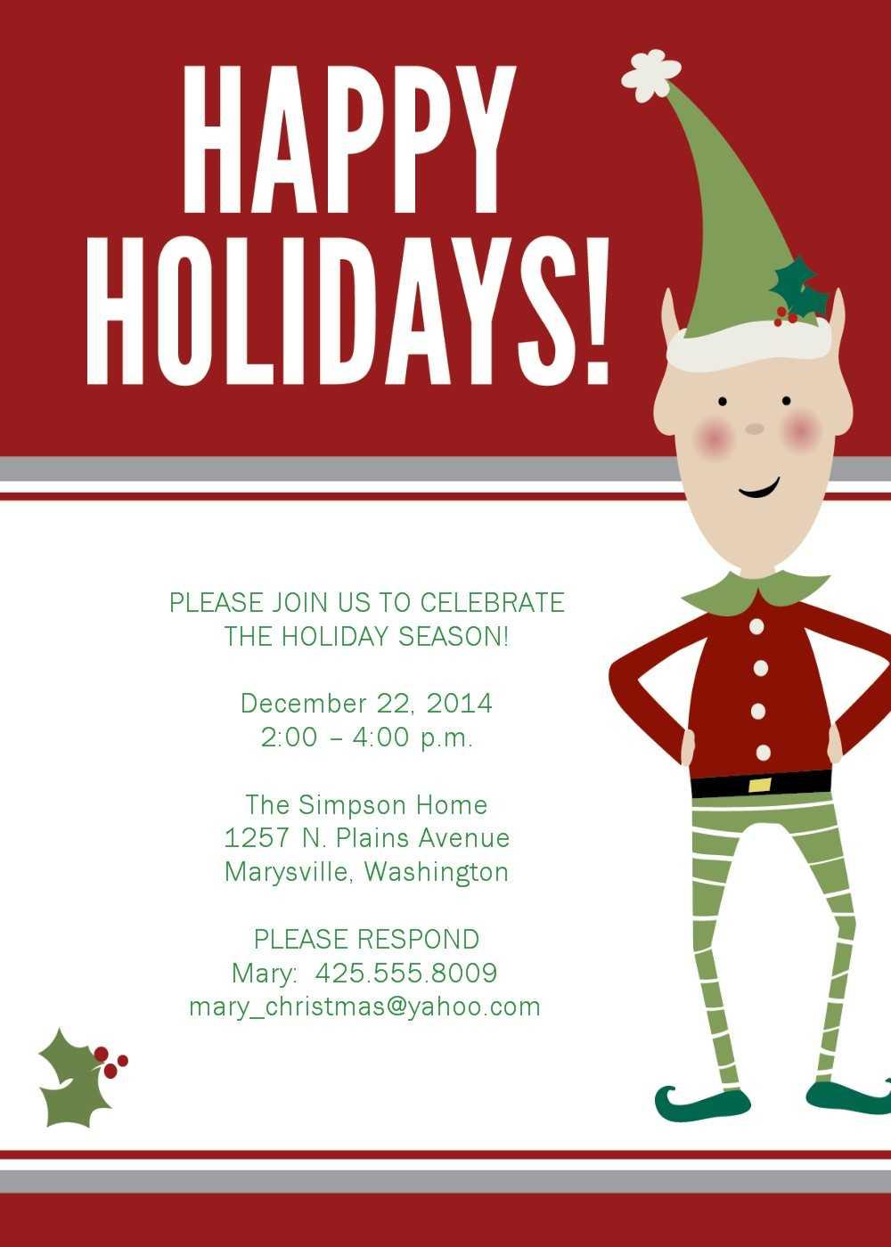 Xmas Party Invite Template Free ] – Christmas Invitation For Free Christmas Invitation Templates For Word